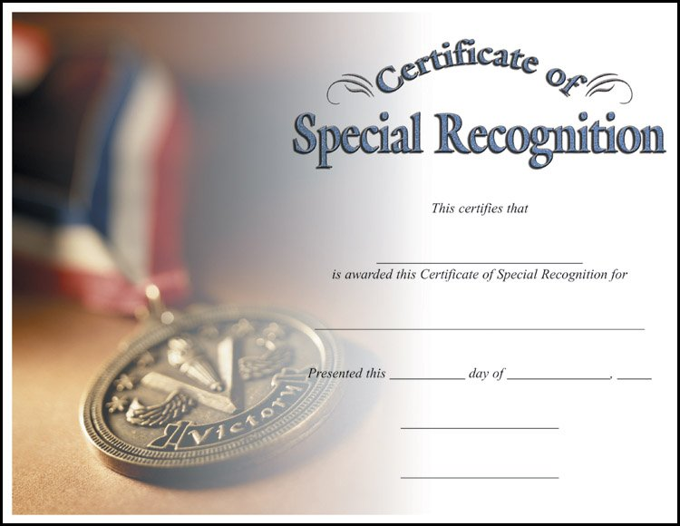 Special Recognition Award Template Jcmanagementco - Certificate of recognition template