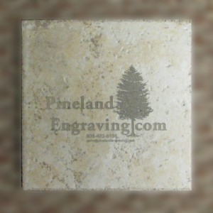 engraved tile