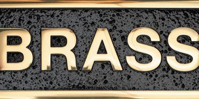 Gemini-Brass-plaque-Polished
